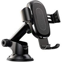 Suporte Celular Veicular Wireless Baseus Adaptativo Ventosa Carro Articulado Indução Smartphone Sem Fio -