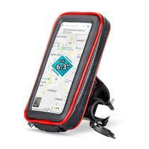 """Suporte de Celular até 6.3"""" Case Impermeável para Guidão de Moto com Carregador USB 2A Rotação 360º Exbom SP-CA34L -"""