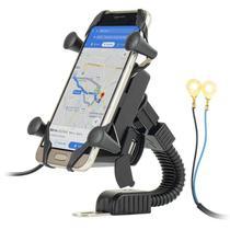 Suporte De Celular Com Carregador Universal Para Moto - IT-BLUE