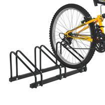 Suporte De Chão Para 3 Bicicletas Polimet Preto -