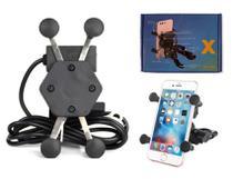 Suporte de Moto em X Garra com Carregador Para Celular Motorola G4, G4 Plus, G4 Play, G6 Play - Sem