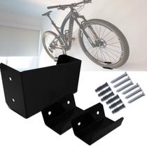 Suporte de Parede Horizontal Ideal para Bicicleta Mountain Bike e Speed Preto com Apoio para 1 Bike - Top Gear