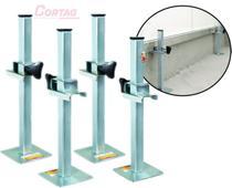 Suporte De Régua Cortag Para Assentar Revestimentos/Azulejo 50cm fácil nivelamento ( 2 Pares ) -