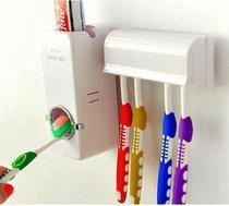Suporte Dispenser De Pasta De Dente Automático Porta Escovas de Dente Banheiro Parede -