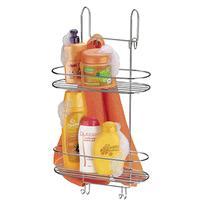 Suporte Duplo Box Aço Cromado Arthi de Banheiro 1502 Porta Shampoo Condicionador Sabonete Toalha -