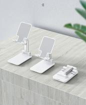Suporte Ergonômico Portátil Celular Tablet Ajustável Mesa - Branco - Nt