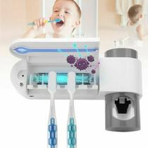 Suporte escovas e pasta de dente com esterilização UV - Todo Modo