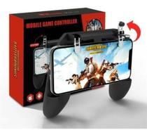 Suporte gamepad controle joystick para jogos celular w10 botões gatilho l1 x r1 mira tiro ( preto ) - Feitun
