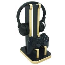 Suporte Gamer Headset e Controle Preto MOAI - Moai Fabricação Digital