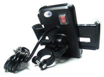 Suporte Gps/ Celular Moto C/ Carregador Usb 2.1 Original Top - Nyp