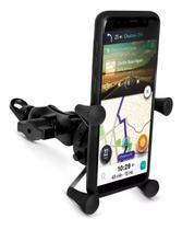 Suporte Gps Celular Moto Universal Com Carregador Guidão - Tomate