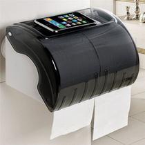 Suporte Impermeável Duplo de Papel Higiênico ou Toalha de Papel para Banheiros com Ventosa de Sucção - Tato