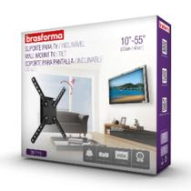 """Suporte inclinável para tv led,lcd e smart tv de 10"""" a 55"""" preto brasforma -"""