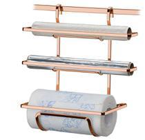 Suporte Inox Rolos de Papel Toalha/Alumínio ROSE GOLD 2801RG FUTURE -