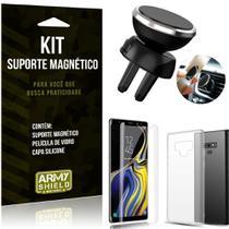 Suporte Magnético Galaxy Note 9 Suporte + Capa Silicone + Película Vidro - Armyshield -