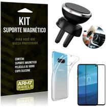 Suporte Magnético Galaxy S10e Suporte + Capa Silicone + Película Vidro - Armyshield -