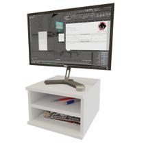 Suporte Monitor Tipo Nicho Com Divisória Suspenso Decorativo Branco - Mvd Móveis