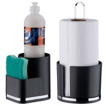Suporte P/ Detergente Esponja Porta Rolo Papel Toalha Eleganza - Future