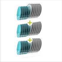 Suporte p/ pratos vertical essence - 3 unidades - Casa Expressa