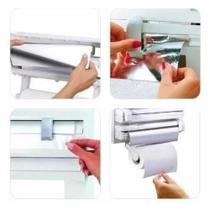 Suporte Papel Toalha Dispenser Cozinha Triple Paper 3 em 1 - kitchen plastic