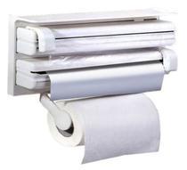 Suporte Papel Toalha Dispenser Cozinha Triple Paper 3 em 1 - Top Total