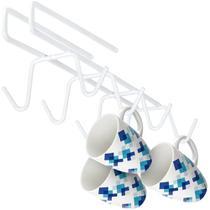 Suporte para 8 Xícaras de Encaixar Emborrachado cor Branco Ref. 2152 Arthi -