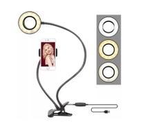 Suporte Para Celular de Mesa Com Luminária Ring Light Para Selfie - Sky Dreams Eletronics