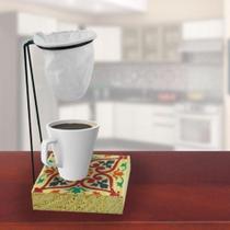 Suporte Para Coador De Cafe Individual De Pano Com Caneca - Cocaplas -
