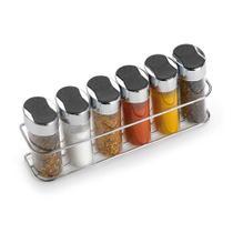 Suporte para condimentos de parede com 6 peças Arthi -