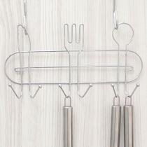 Suporte para Cozinha com 6 Ganchos Querida 15,5x30,1cm - Arthi -