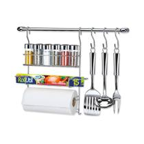 Suporte para Cozinha Cromado Cook Home Kit 17 Arthi -