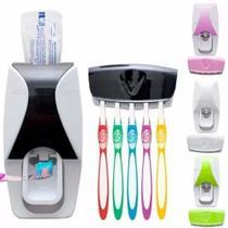 Suporte Para Escovas e Dispenser Creme Dental Automático - Jiuxin