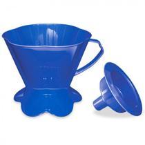 Suporte para Filtro de Cafe em Plastico + Funil Tam 103 Azul  Injetemp -
