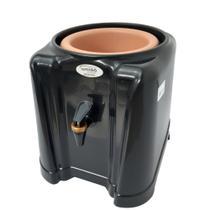 Suporte para galão de água 10/20 litros c/ cuba ceramica - master preto - união utilidades -