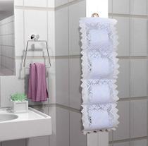 Suporte para papel higiênico em renda - Não Informada