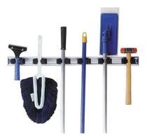 Suporte para pendurar rodos e vassouras 6 ganchos , bralimpia sua casa mais organizada -