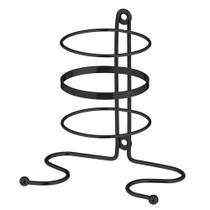 Suporte Para Secador Cabelos Aço Preto Com Kit Parafusos - Passerini