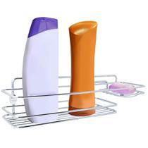 Suporte para shampoo e sabonete de parede em aço cromado - Duler