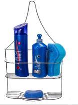 Suporte Para Shampoo Porta Xampu Duplo Parede Aço Com Nota - Erca