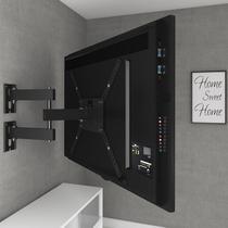 """Suporte para TV Articulado c/ Inclinação LED/LCD de 14"""" a 58"""" M3 Preto - Multivisão - Multivisao"""