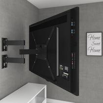 Suporte Para TV LCD/LED/PLASMA 14 a 58 Polegadas  Triarticulado com inclinação M3 Multivisão - Multivisao