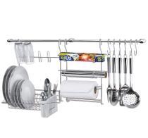 Suporte para utensílios na parede com escorredor cook home 9 11 peças - Arthi