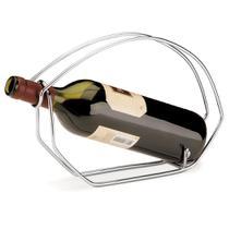 Suporte Para Vinho Bottle Holder Aço Cromado Forma -