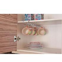 Suporte para Xícaras em Aço Inox 1078 Future. 12 xícaras pequenas ou 6 xícaras médias -