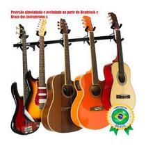 Suporte Parede Gancho 05 Instrumentos Violão Guitarra Baixo Saty SP50 -