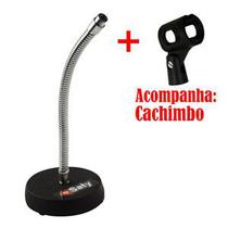 Suporte Pedestal Microfone Mesa Saty - PMS04 -