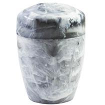 Suporte Porta Algodão Cotonete Plastico Design Marmorizado Branco Carrara - Ou