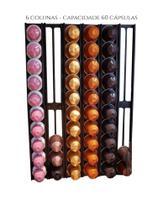 Suporte Porta Cápsulas Nespresso Para Parede - 60 Capsulas - Toque 3D - Cor Preto -