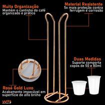 Suporte Porta Copos Café 50/80ml Cobre Dourado - Future