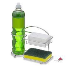 Suporte Porta Detergente Esponja Sabão Organizador para Pia - Cromado